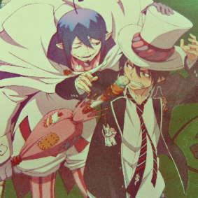 Ao No Exorcist - Mephisto and Rin icon by LeiaMordio