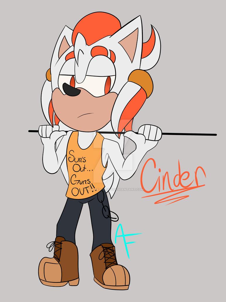 Cinder the Hedgehog Cinder_mini_ref_by_angered_fluff-dbse75u