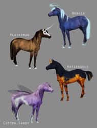 Fantasy Horse Adopts [Open] by akaParis