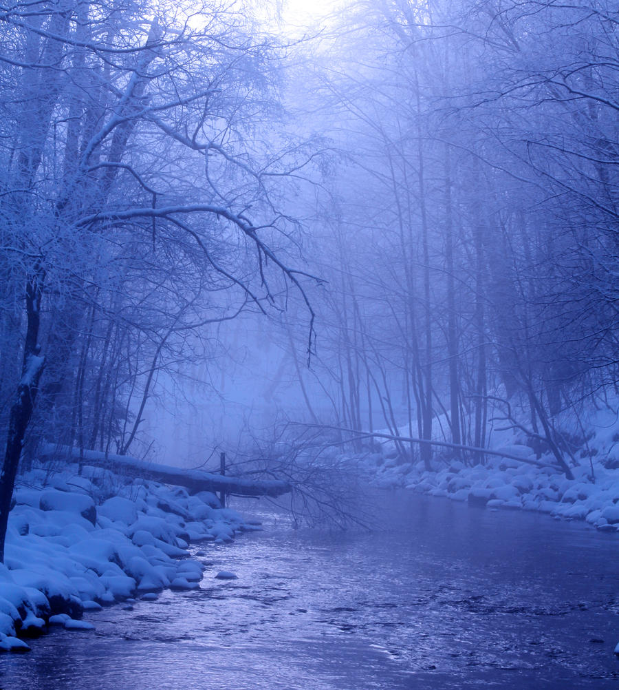 Premade Background: Winter by amygdaladesign
