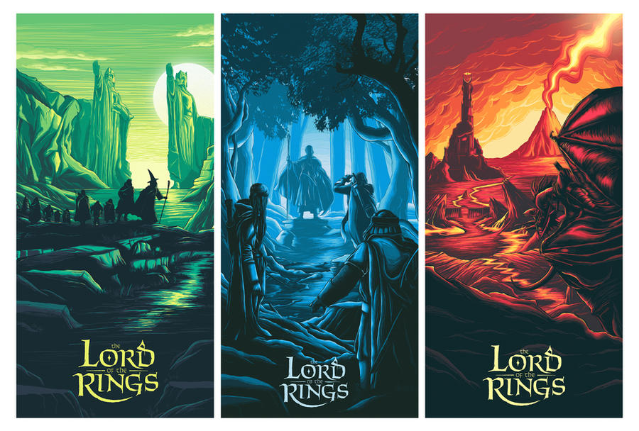 Lord of the Rings posters by Barbeanicolas