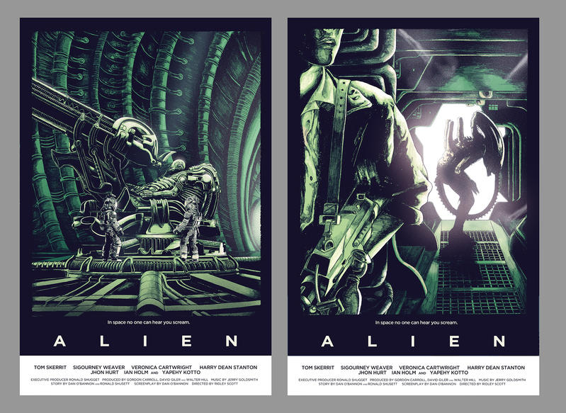 Alien alternative poster by Barbeanicolas