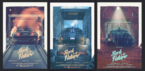 Back to the Future Trilogy posters by Barbeanicolas