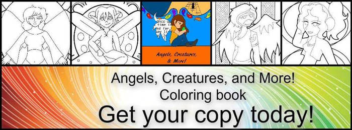 Angels, Creatures, and More Coloring book be me