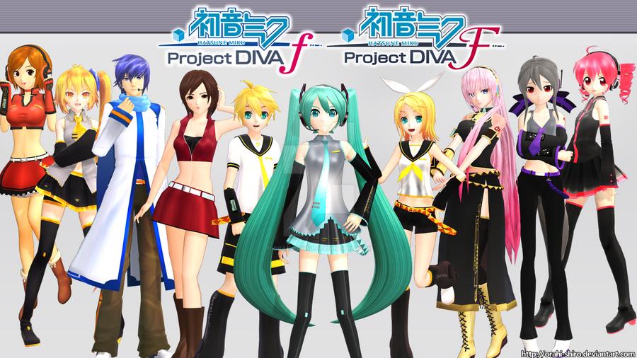 [MMD] - Hatsune Miku Project DIVA f/F by Orahi-shiro
