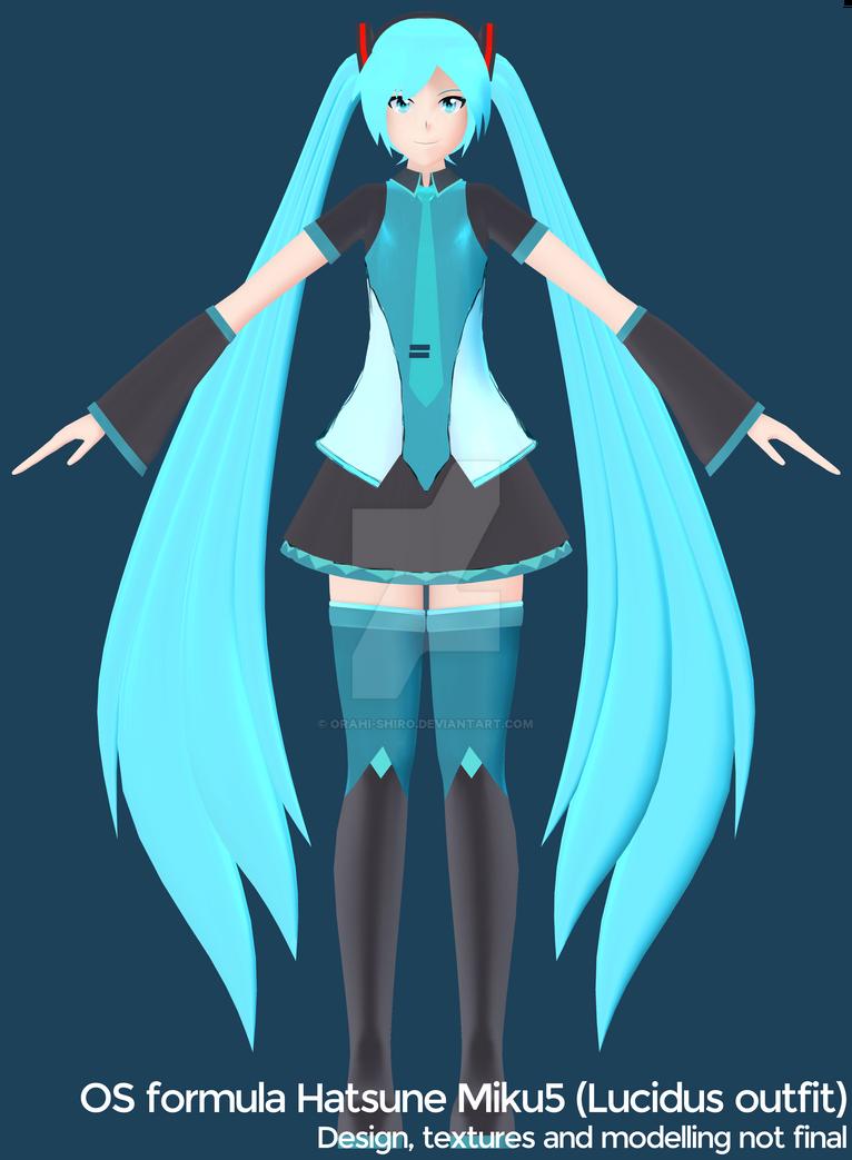 [WIP] OS formula Hatsune Miku5 (Lucidus outfit) by Orahi-shiro
