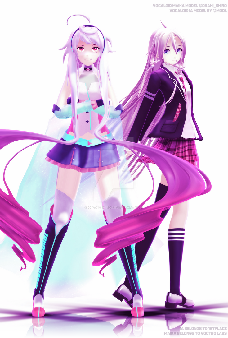 [MMD] Pink and White by Orahi-shiro
