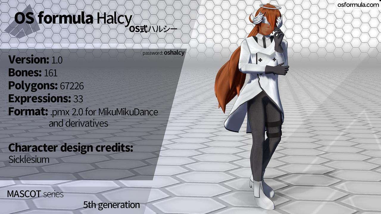 [MMD] OS formula Halcy [DL link] by Orahi-shiro