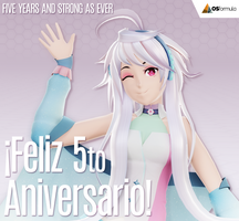 [Blender] - VOCALOID MAIKA 5th ANNIVERSARY by Orahi-shiro