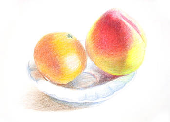 Peach and orange
