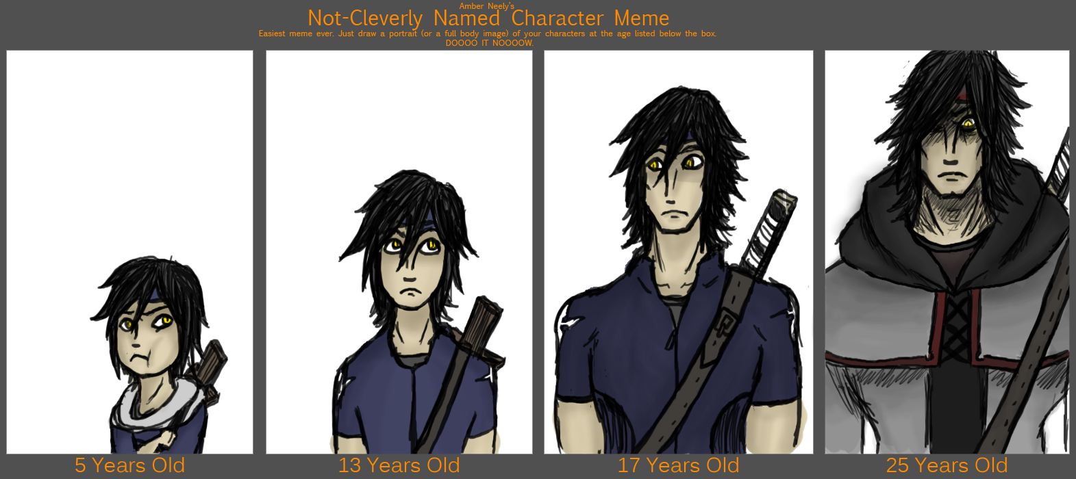 Anime Characters Age : Character age meme by hazu haze on deviantart
