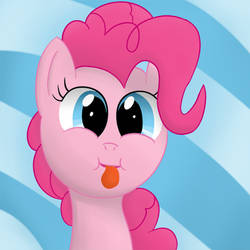 Pinkie making a silly face