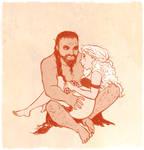 aSoIaF Khal and Khaleesi