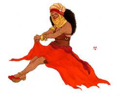 Red priestess by jubah