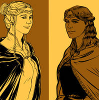 the two queens of the Noldor by jubah