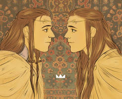 tolkien Elrond and Elros by jubah