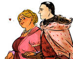 asoiaf sketch Fat Walda and her Hubby