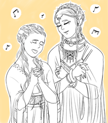crossover: sansa and tar miriel by jubah