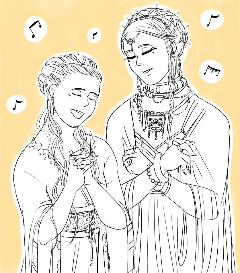 crossover: sansa and tar miriel by jubah