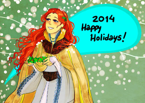 sansa stark holiday card