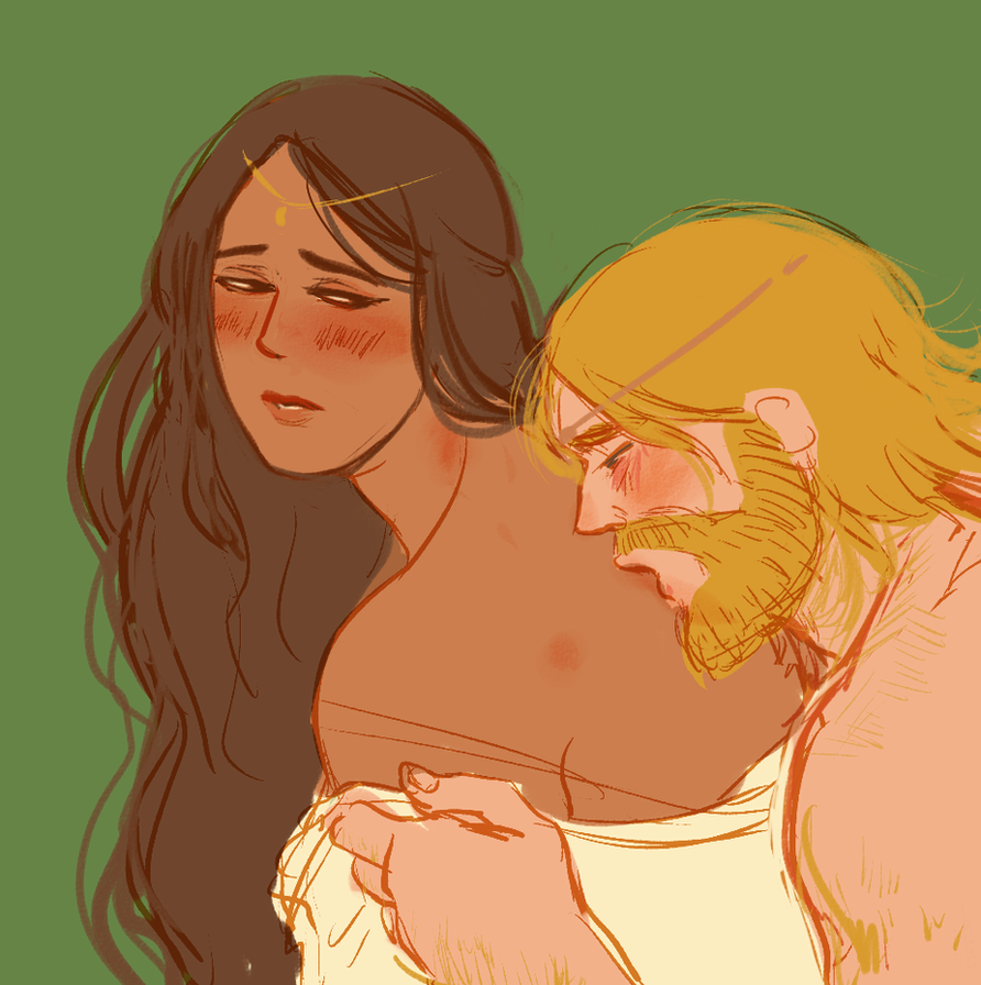 hurin and morwen, sketch by jubah