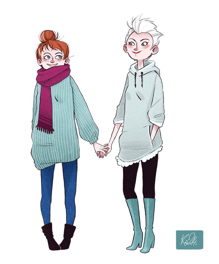 Modern Frozen Sisters by Nibilondiel