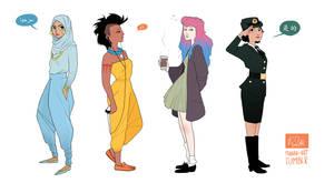 Modern Disney Girls I by Nibilondiel