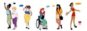Modern Disney Girls II by Nibilondiel