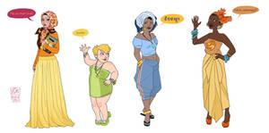 Modern Disney Girls IV by Nibilondiel