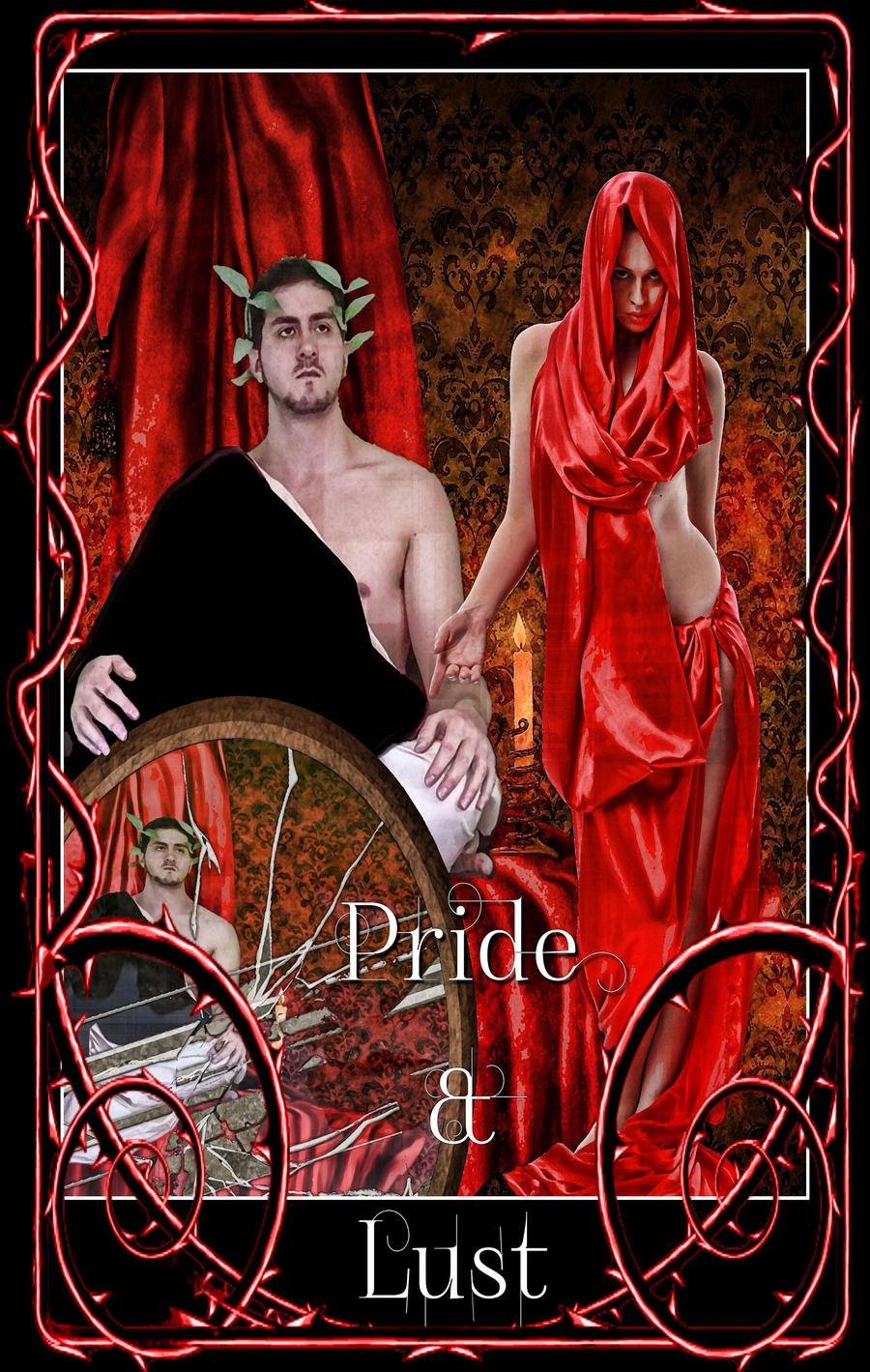 Pride begins with a image,lust with a sensation.