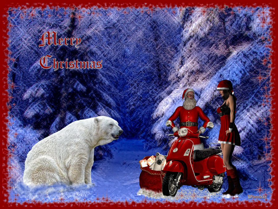 Hohoho....do you will give me a Vespa in exchange.