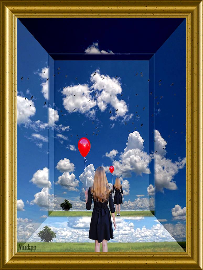 La Fille Au Ballon Rouge by Wimmeke63
