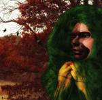 La femme au masque d'automne