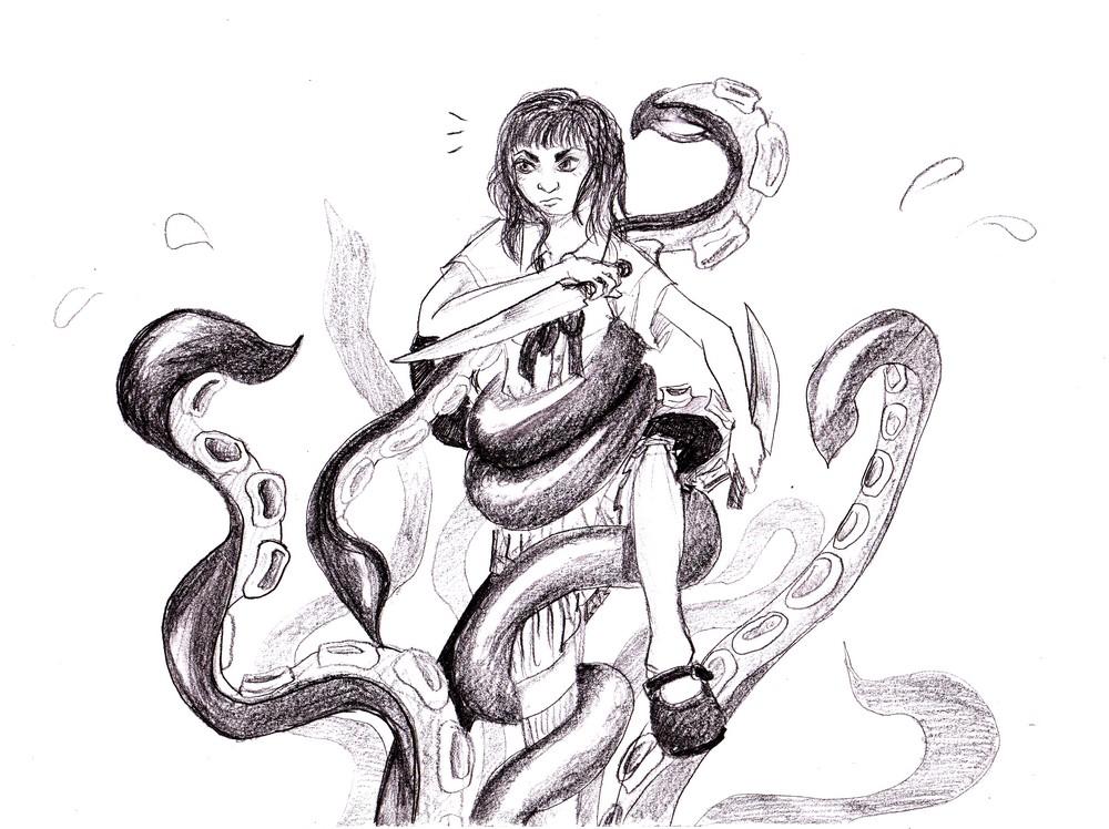 Takachiho Atsuko - Tentacles by Selenium79