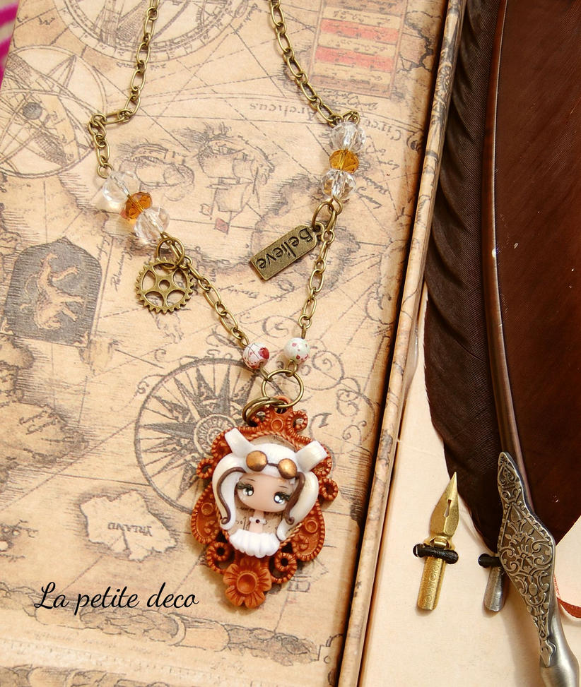 steampunk dolly neckalce by lapetitedeco