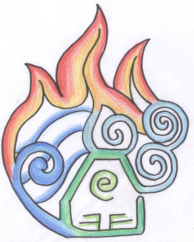 Elements Of Art Drawing : The four elements by whispering waters on deviantart