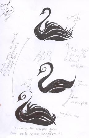 swan tattoo design i by whispering waters on deviantart. Black Bedroom Furniture Sets. Home Design Ideas