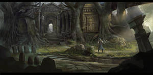 Environment concept influenced by dark-soul