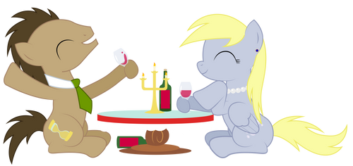 Derpy and Doctor Whooves Date
