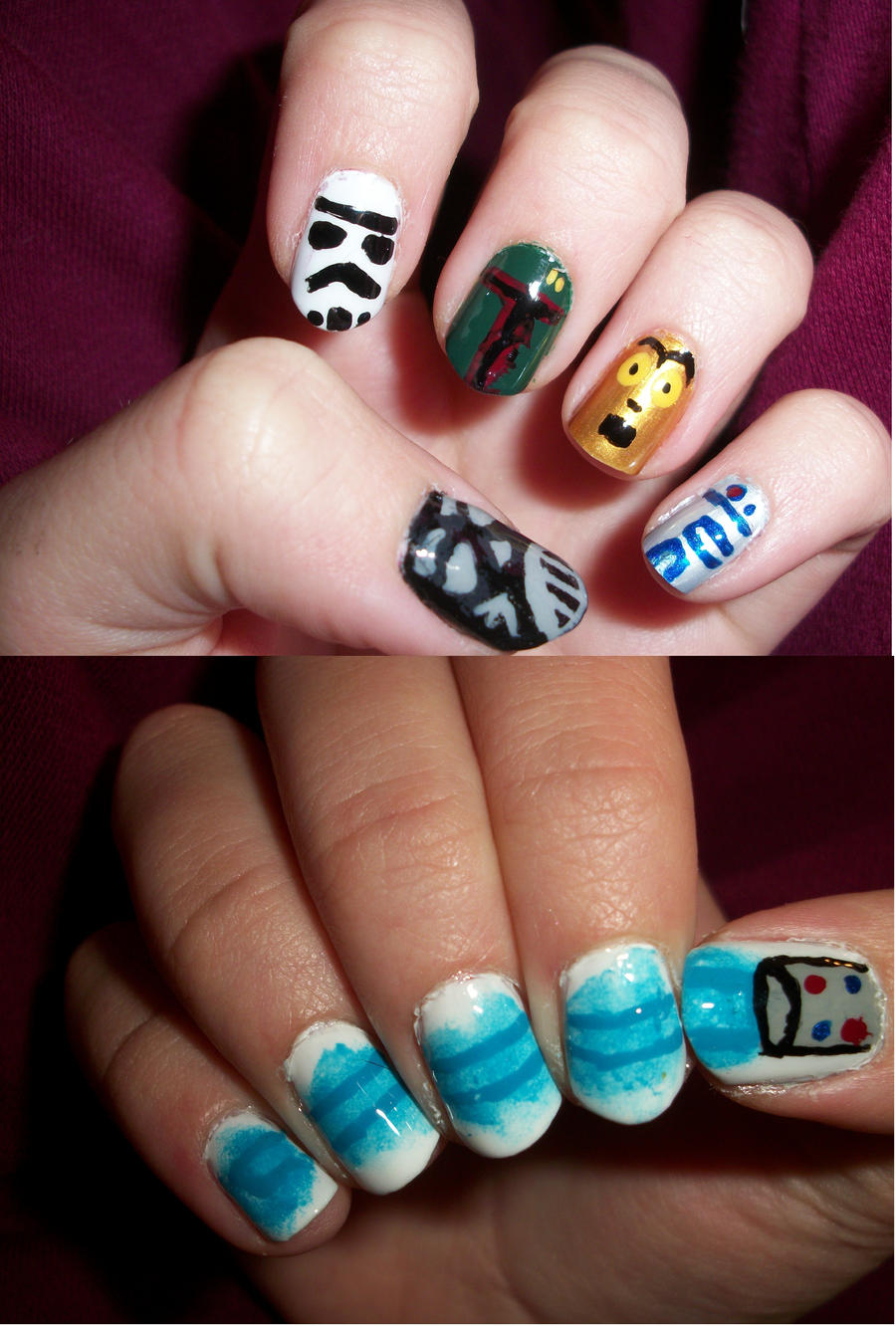 Star Wars Nails by QueenAliceOfAwesome on DeviantArt