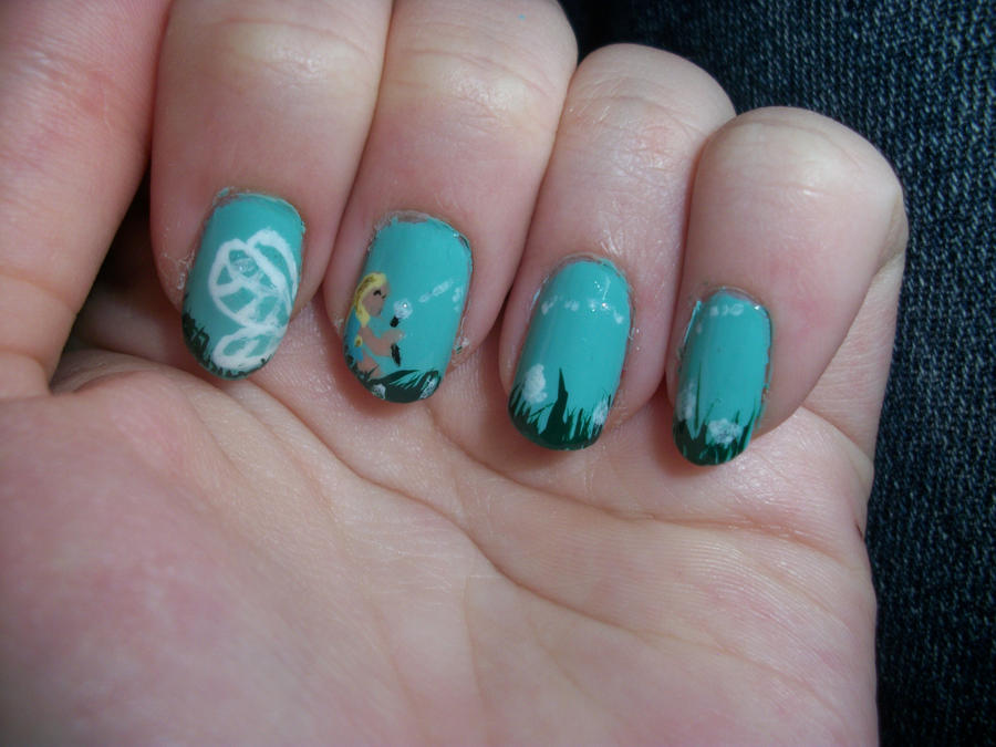 Fairy with dandelions nails inspired by RobinMoses by ...