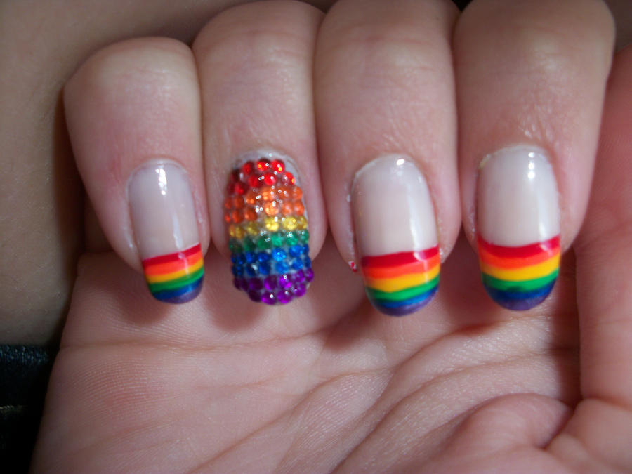 Cool In Minutes You Can Have This Beautiful Rainbow Pattern On