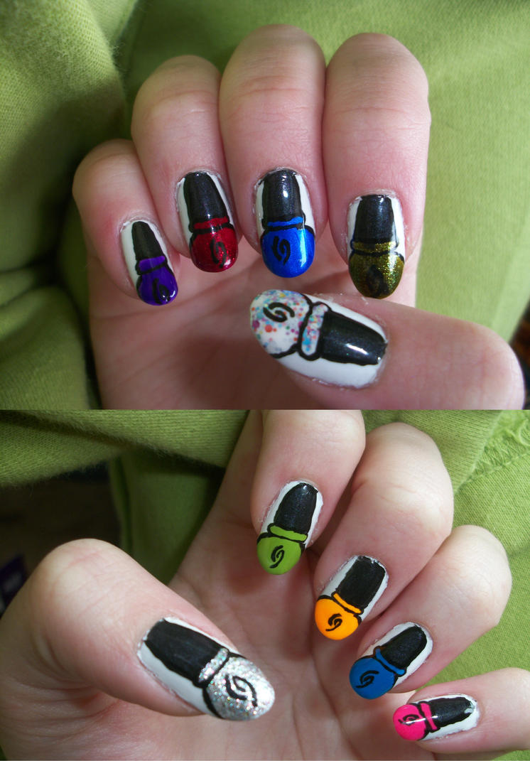 Nail Polish Bottle Nails by QueenAliceOfAwesome on DeviantArt