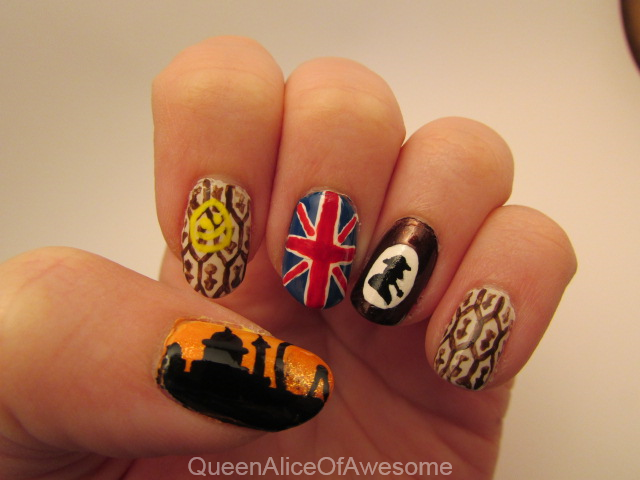 Sherlock Nails by QueenAliceOfAwesome