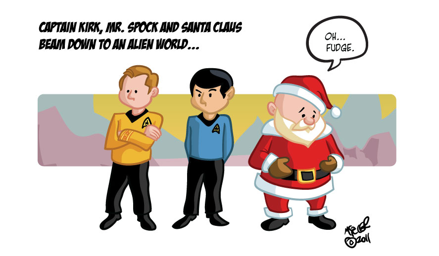 Kirk Spock And Santa Claus By Gamecreature On Deviantart