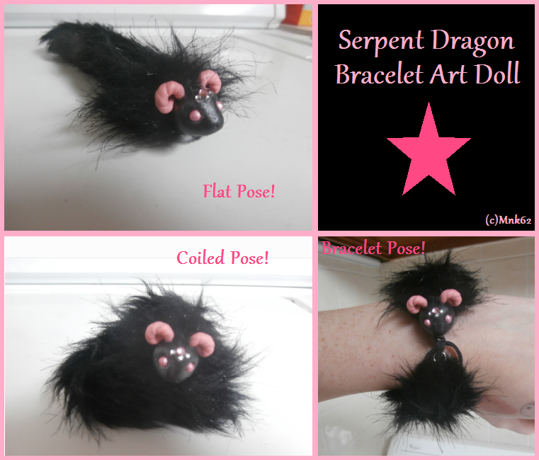 Serpent Dragon Art Doll (bracelet) by Monkiki62