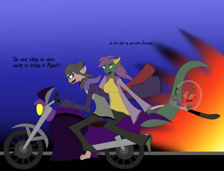 Dragon Ride Flat Color