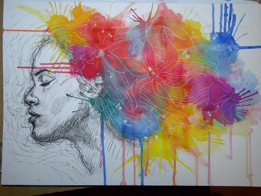 A game of movement and music by arlene devon on deviantart for Art and craft drawing and painting