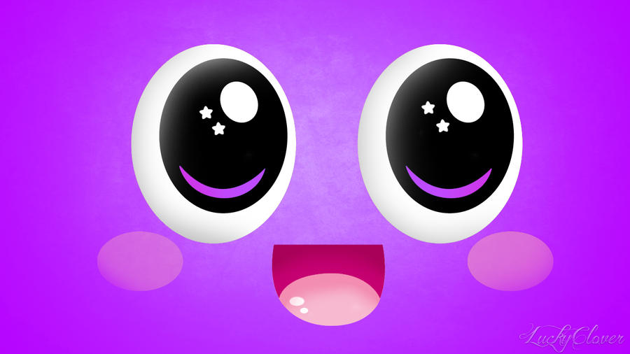 Wallpaper cute Purple Love : Wallpaper cute Face by Lauraclover on DeviantArt