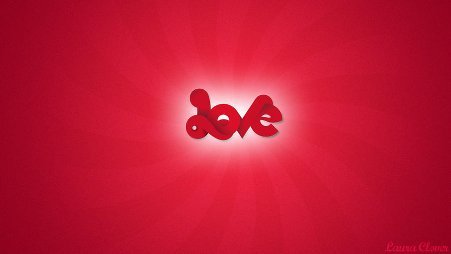 Wallpaper Red Love by Lauraclover on DeviantArt